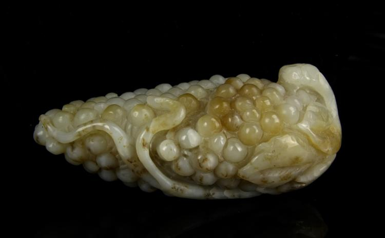 Chinese Carved White Jade Dragon Seal