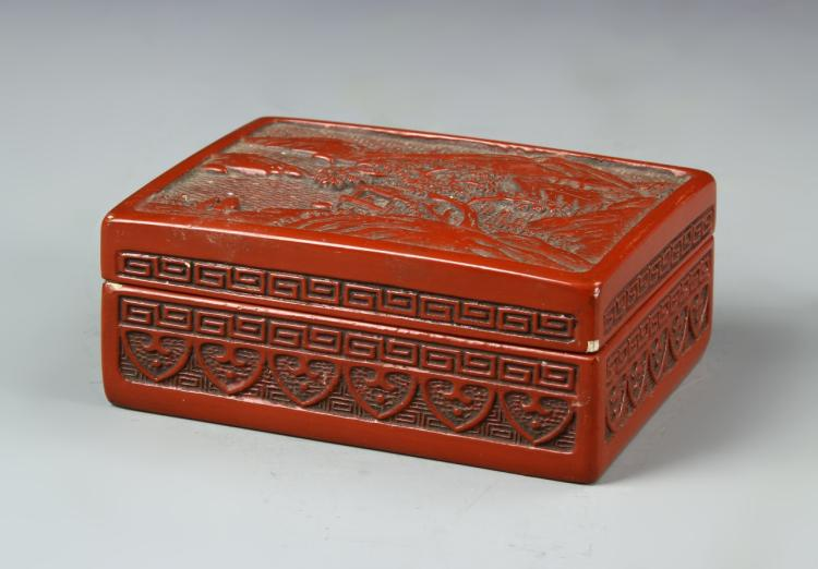 Chinese Red Lacquer Box
