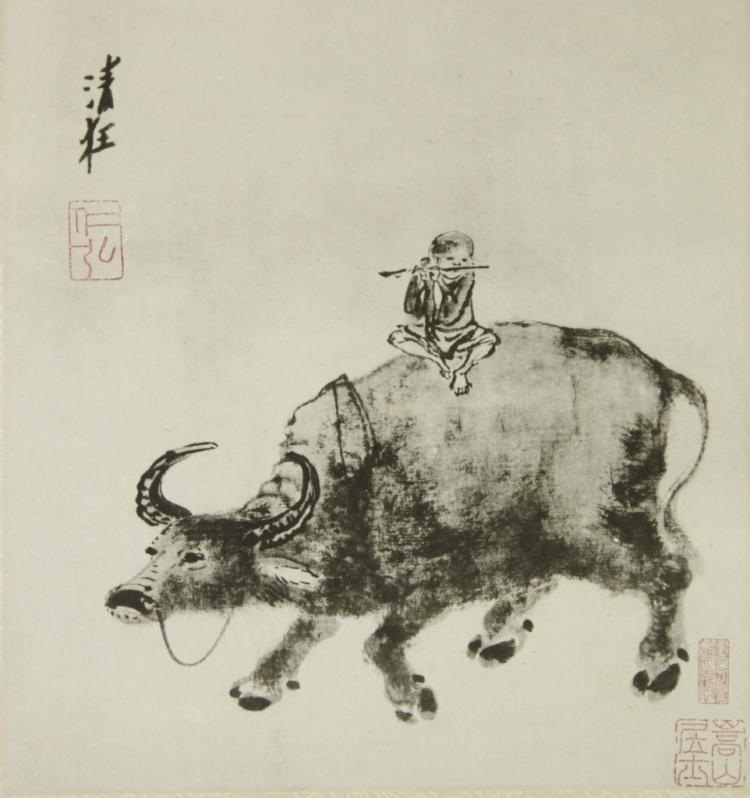 Chinese White Lotus Pendent