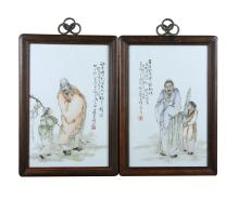 Chinese Famille Rose Plaques
