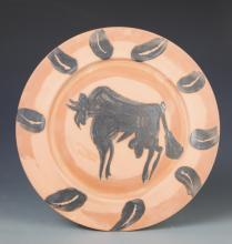 Pottery Art Plate, Signed Picasso
