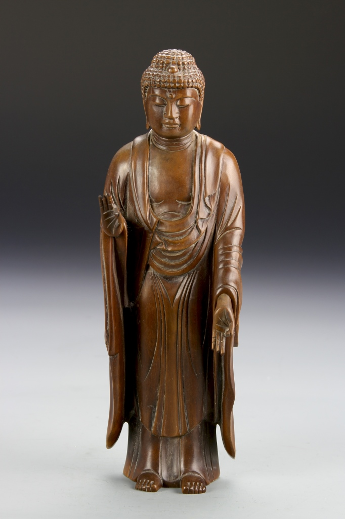 Chinese Boxwood Buddha Figure