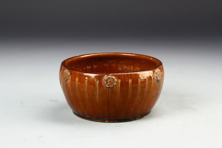 Chinese Reddish Brown Glazed Basin