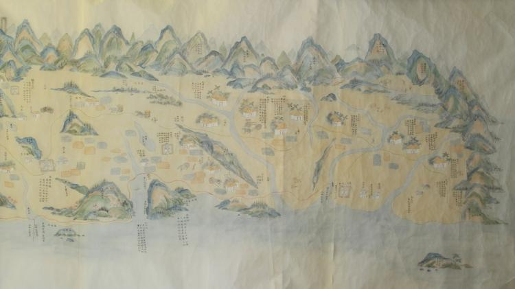 Chinese Painted Map
