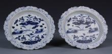 Pair of Chinese Blue and White Dishes