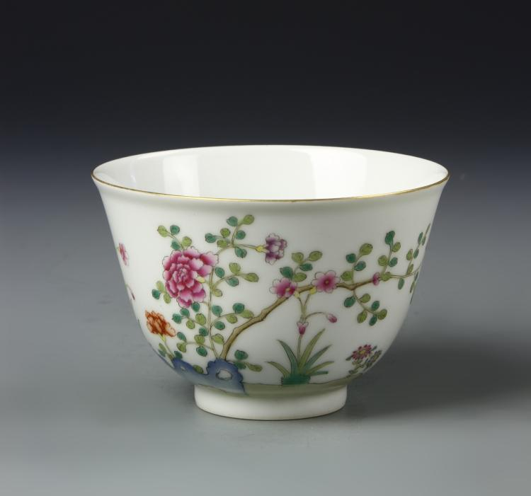 Chinese Famille Rose Tea Bowl