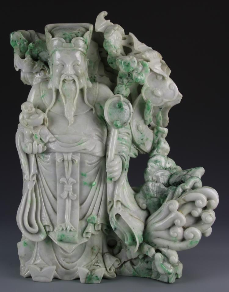 Chinese Jadeite God of Wealth