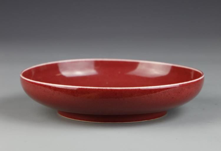 Chinese Oxblood Plate