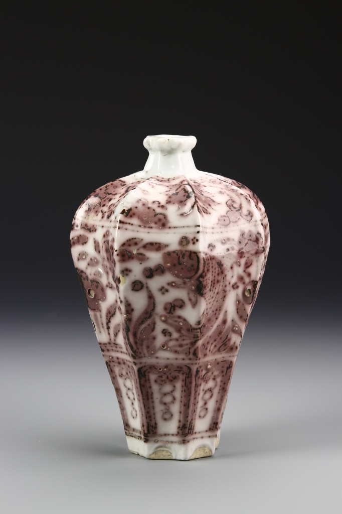 Chinese Copper Red Meiping Vase
