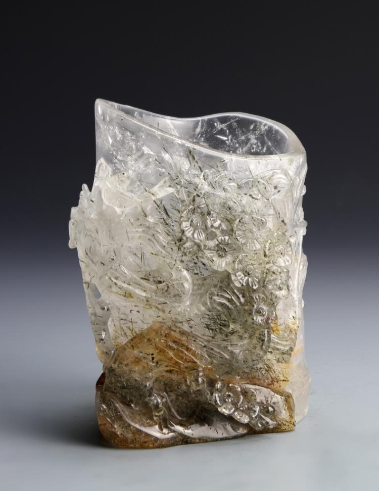 Chinese Crystal Brush Pot