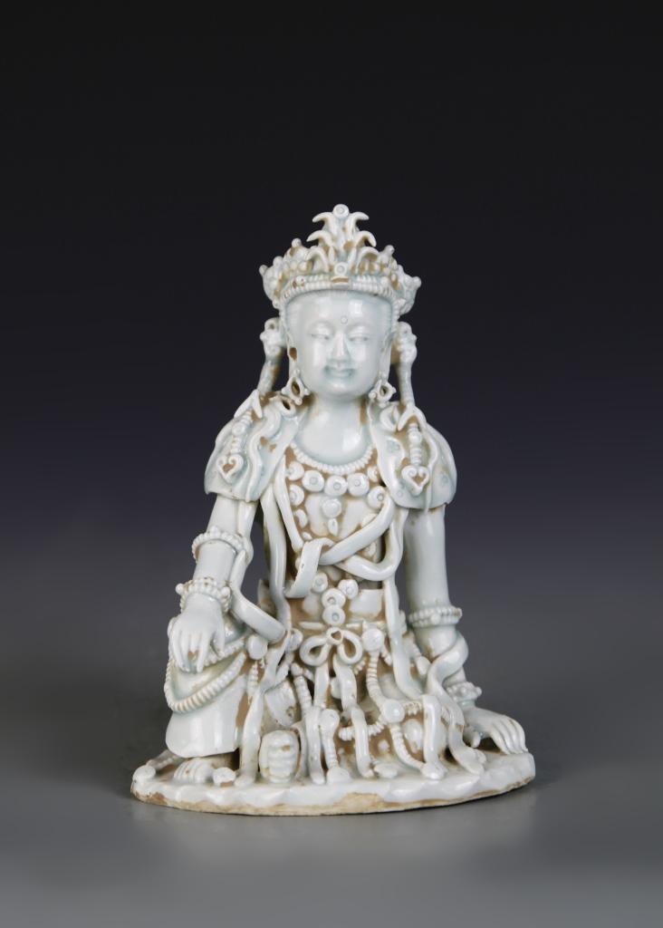 Chinese Ying Qing Glazed Buddha