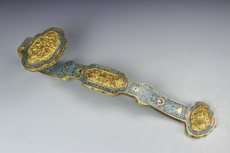 Chinese Cloisonne Ruyi Scepter