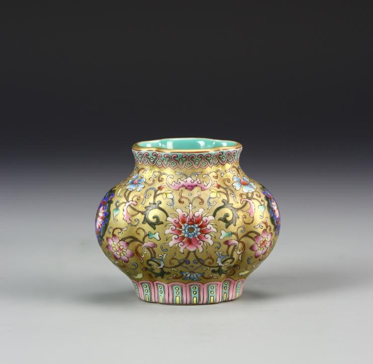 Chinese Famille Rose Mini Jar