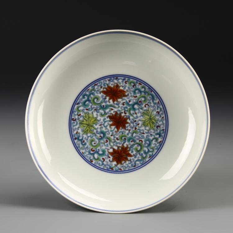 Chinese Doucai Plate