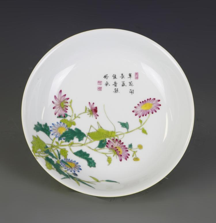 Chinese Enameled Plate