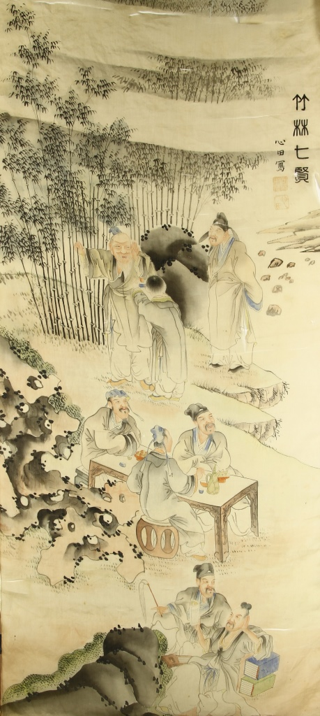 Two Chinese Silk Paintings