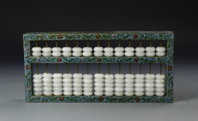 Chinese Cloisonne Abacus