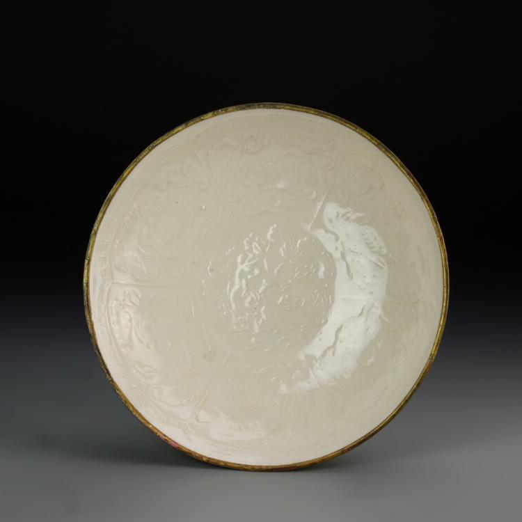 Chinese Ding Yao Ware Plate