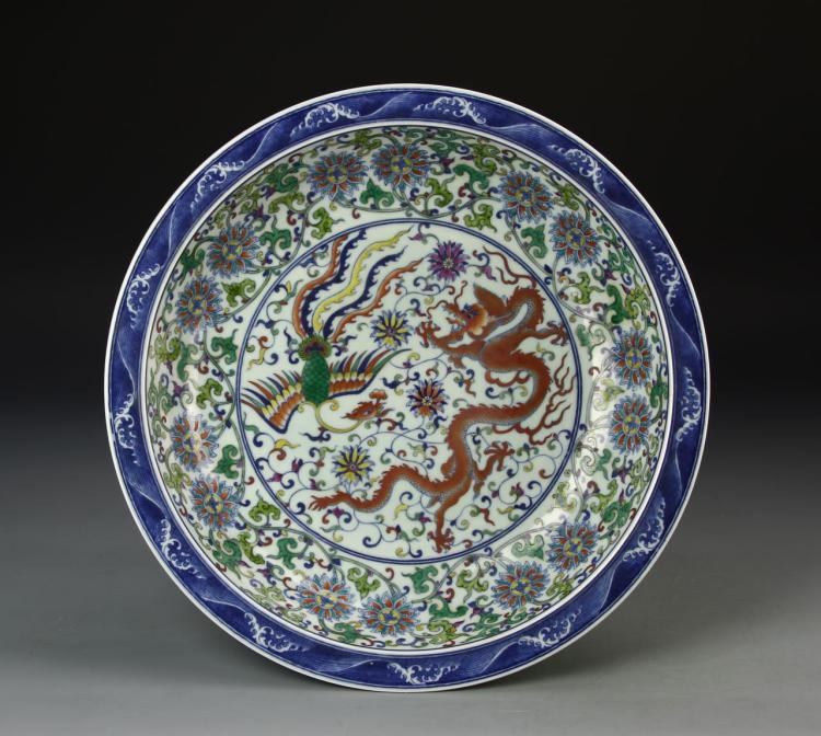 Chinese Doucai Dragon Plate