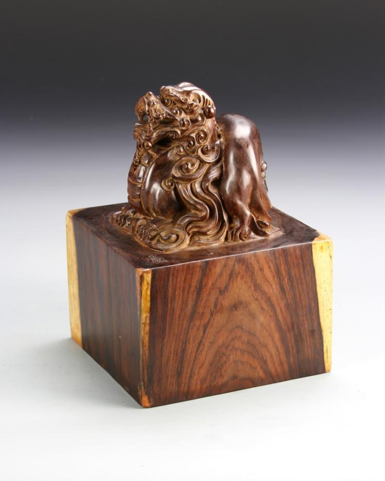 Chinese Huanghuali Wood Seal Chop
