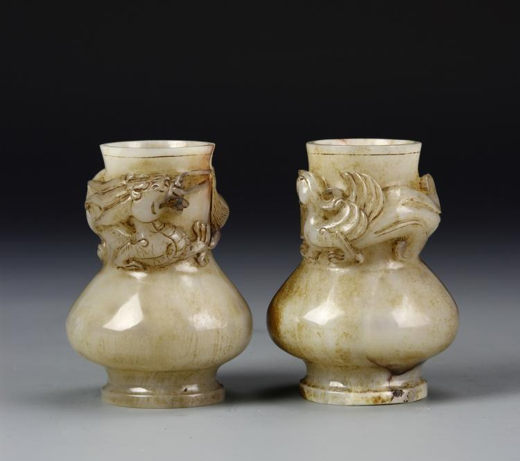 Pair of Chinese Jade Vases