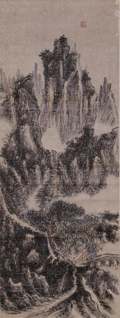Chinese Scroll Painting, Huang Bin Hong