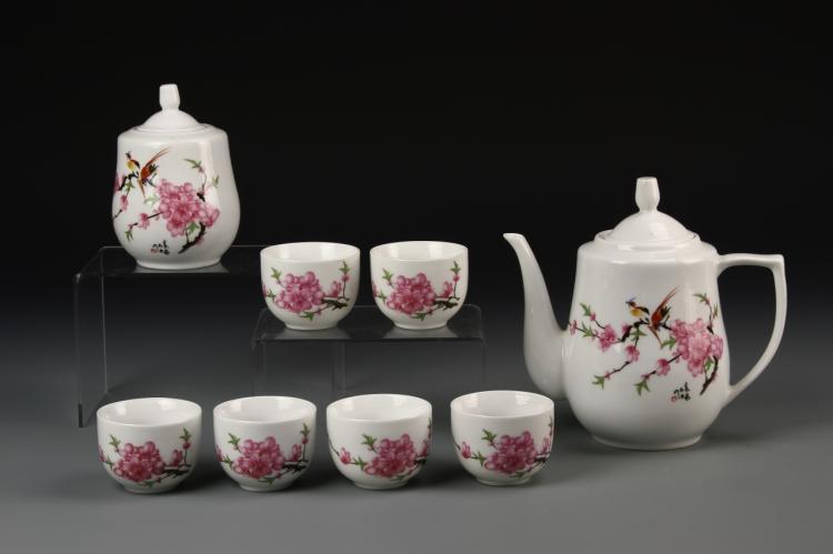 Chinese Famille Rose Tea Set