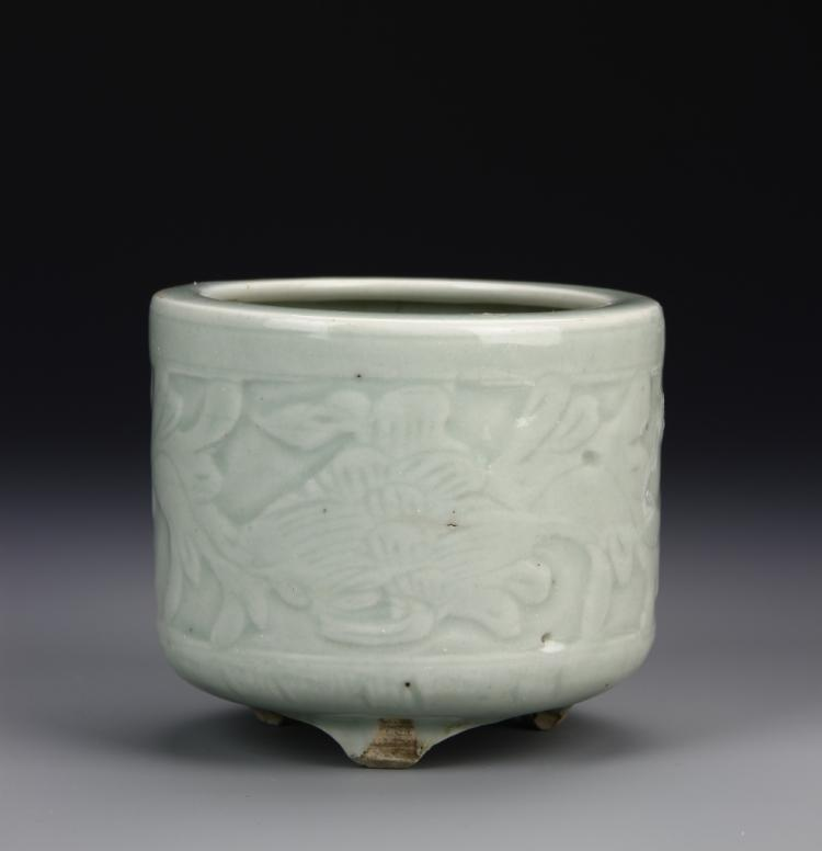Chinese Ming Period Celadon Tripod Censor