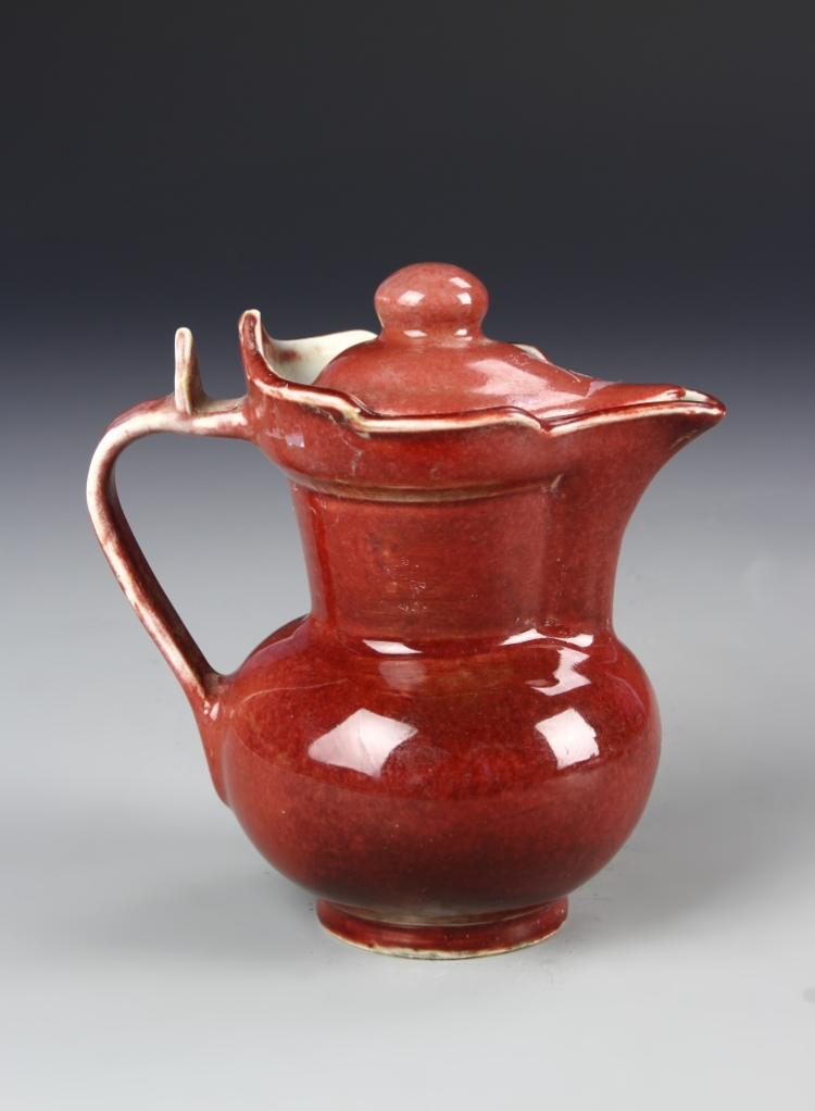Chinese Copper Red Temple Ewer