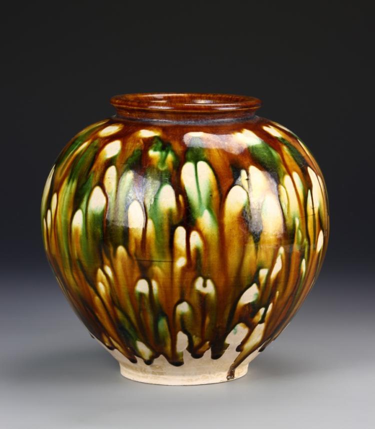 Chinese Sancai Style Jar
