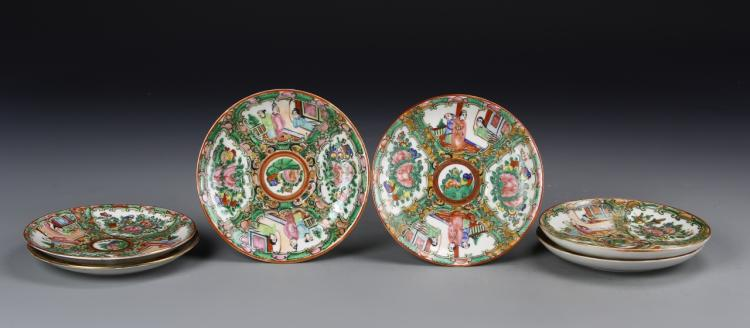 Chinese Six Rose Medallion Dishes