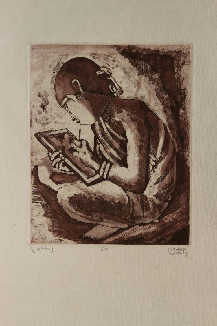 Famous Indian Artist Dileep Sharma's Seven Etching