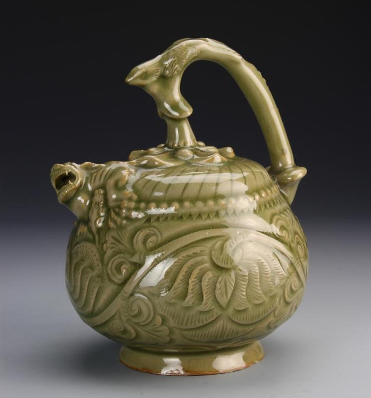 Chinese Yue Ware Reverse Teapot