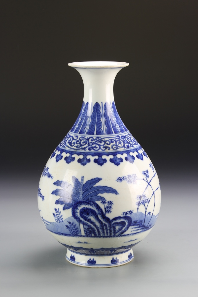 Chinese Blue and White Yuhuchunping Vase