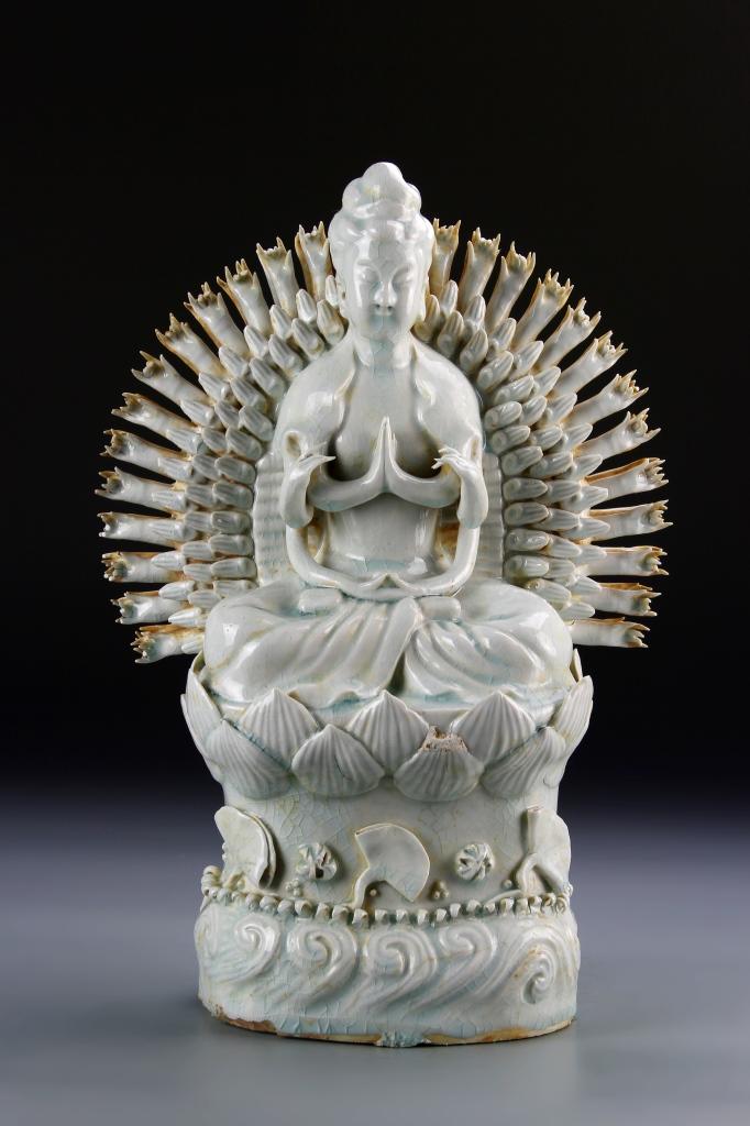 Chinese Ying Qing Ware Buddha