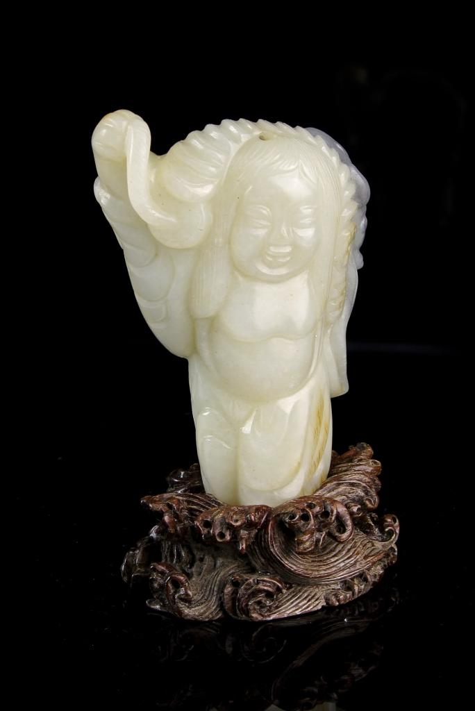 Chinese Jade Liu Hai Figure