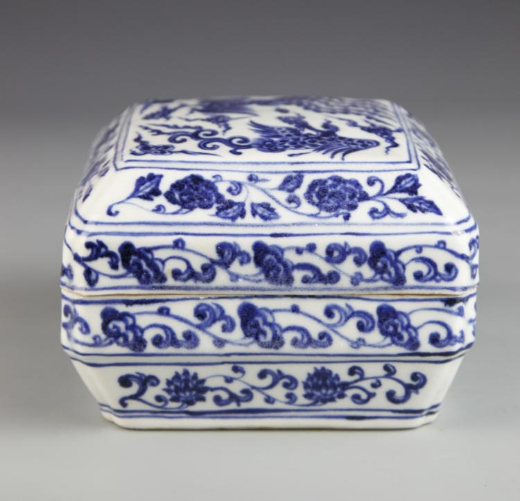 Chinese Blue And White Box