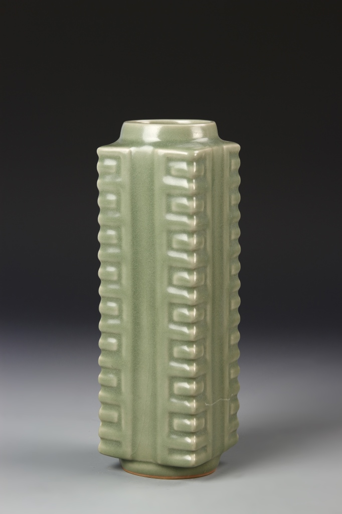 Chinese Green Glazed Cong Vase