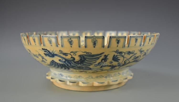 Chinese Blue and White Large Bowl