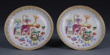 Pair of Chinese Enameled Dishes