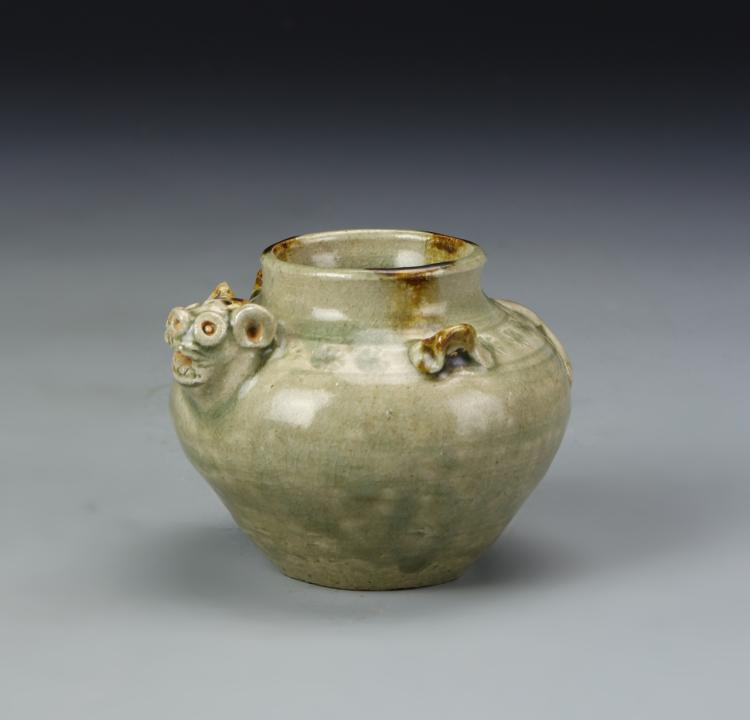 Chinese Gray Glazed Water Coup