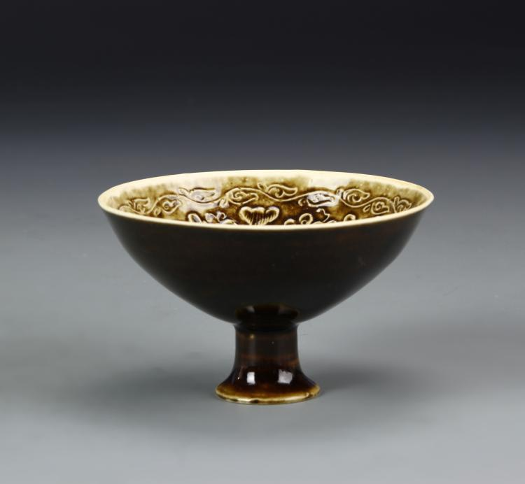 Chinese Jizhou Yao High Stem Bowl
