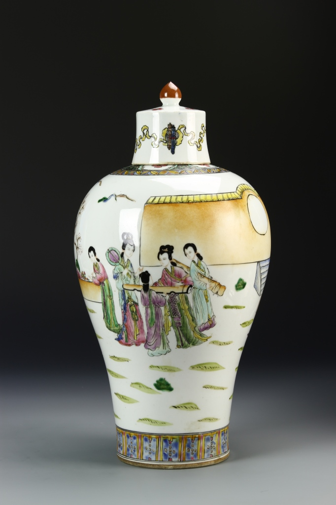 Chinese Famille Rose Meiping Vase