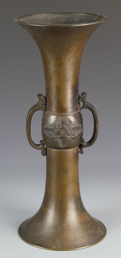 Chinese Bronze Gu Vase