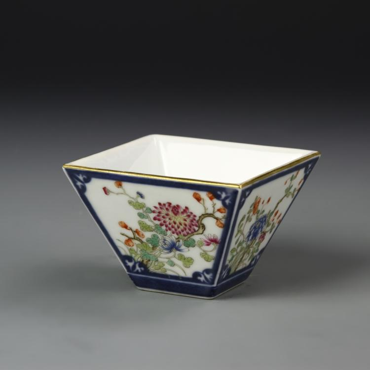 Chinese Famille Rose Square Bowl