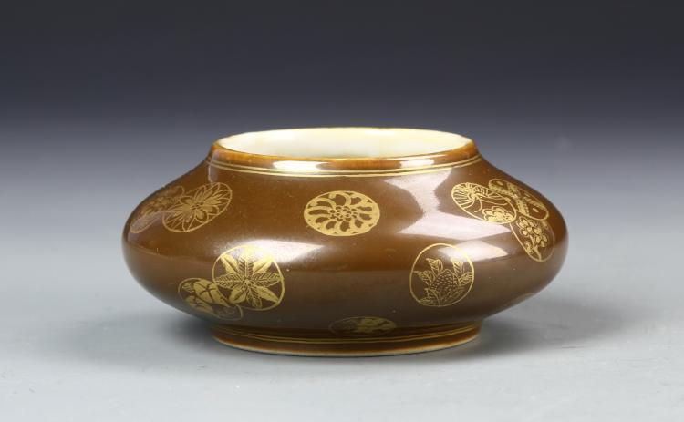 Chinese Brown Glazed Water Coup