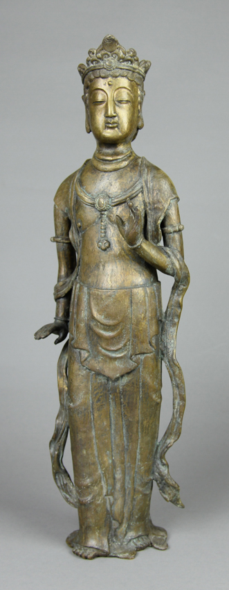 A gift bronze figure