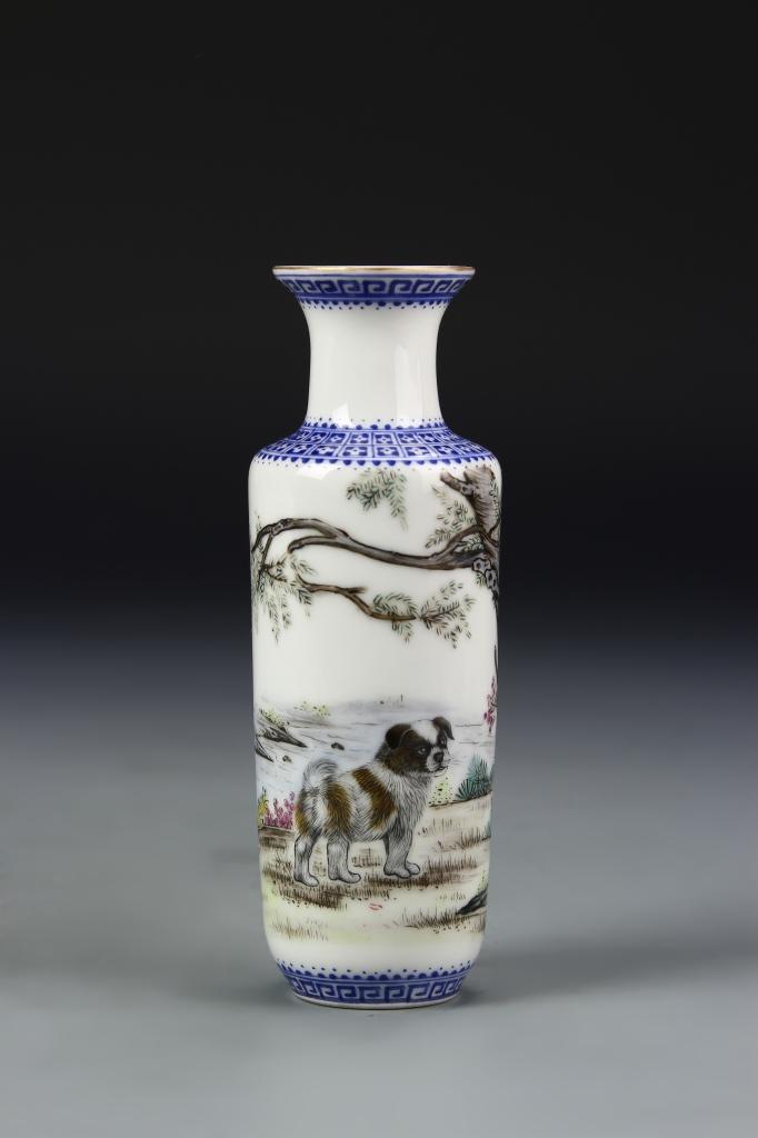 Chinese Famille Rose Mini Vase