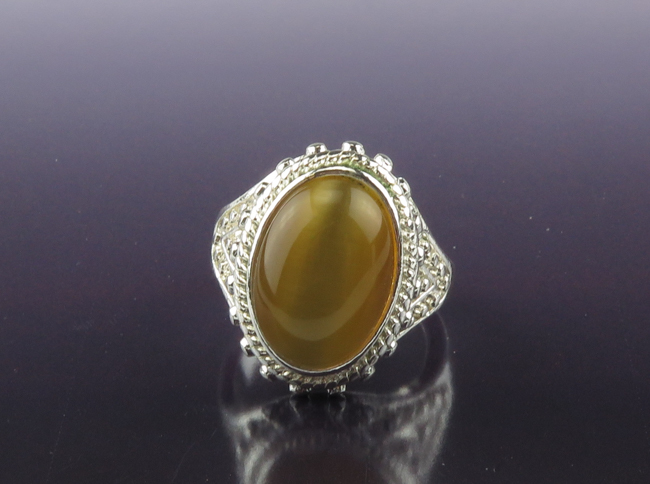 A Cat Eye Stone Ring