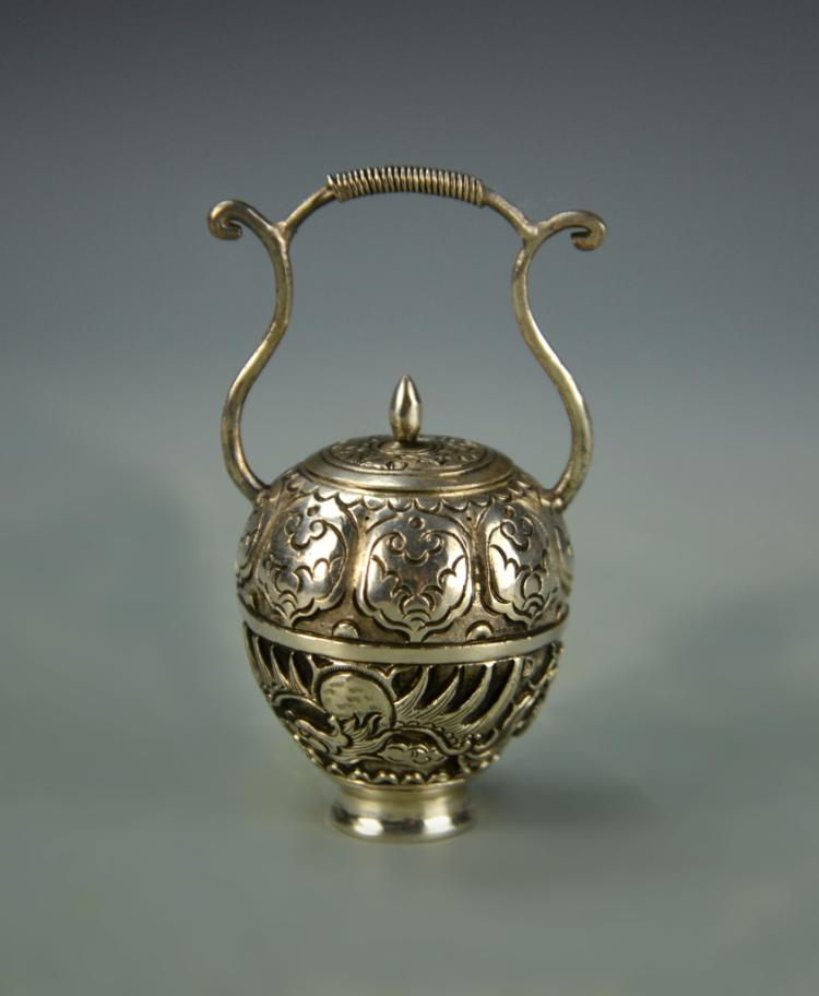 Chinese Silver Mini Jar